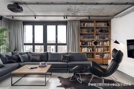 波兰工业风顶层公寓_3850550