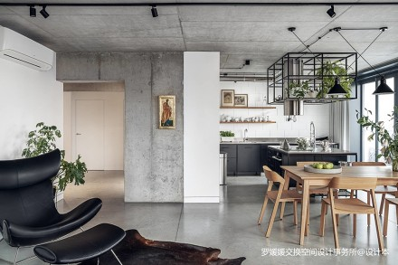 波兰工业风顶层公寓_3850548三居中式现代家装装修案例效果图