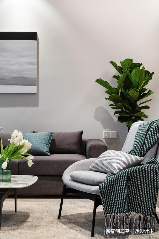 设计可以让你的房子月租3w+依旧抢手客厅茶几现代简约客厅设计图片赏析