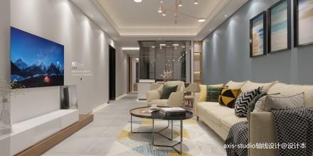 89m²小户型打造3室一厅北欧简约设计_3853542三居北欧极简家装装修案例效果图