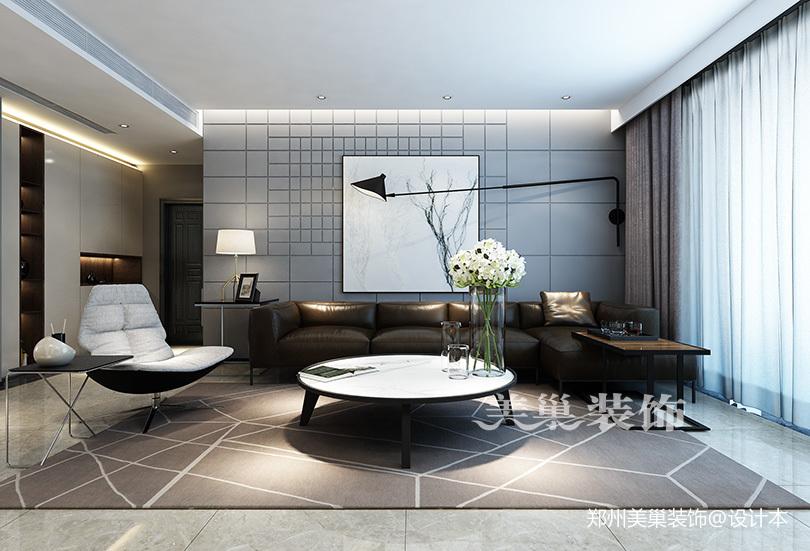 郑州康桥悦城125平三室装修后现代风格阳台窗帘现代简约阳台设计图片赏析