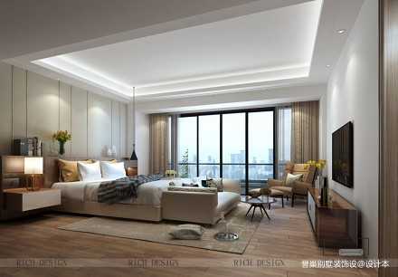 灰色与白色的搭配现代风的别墅_3858380