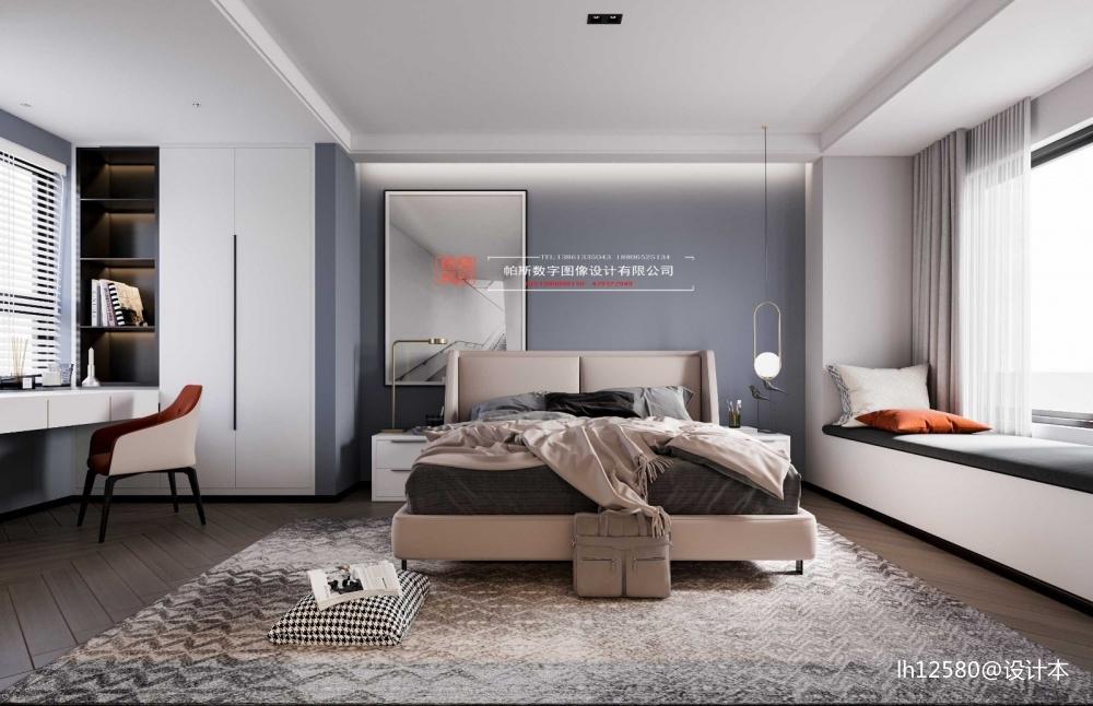 酷炫黑色空间卧室现代简约卧室设计图片赏析
