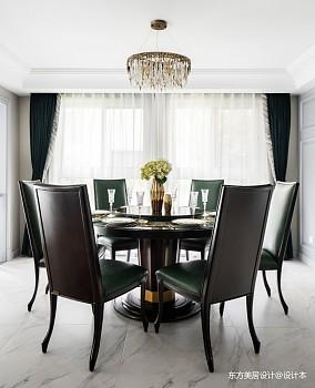 轻奢美式独栋别墅英郡雷丁·上海·松江厨房美式经典餐厅设计图片赏析