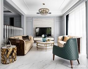 轻奢美式独栋别墅英郡雷丁·上海·松江客厅2图美式经典客厅设计图片赏析