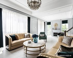 轻奢美式独栋别墅英郡雷丁·上海·松江客厅1图美式经典客厅设计图片赏析