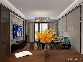 新中式风格┃东方韵,沉淀生活美厨房中式现代餐厅设计图片赏析