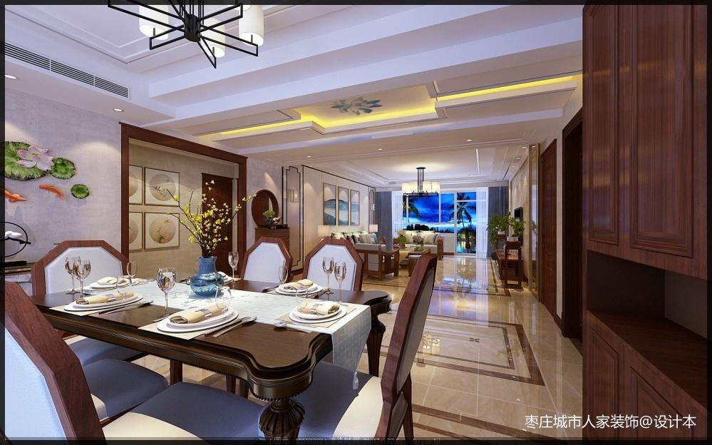 枣庄城市人家峄城水发颐和园装修效果图厨房餐厅设计图片赏析