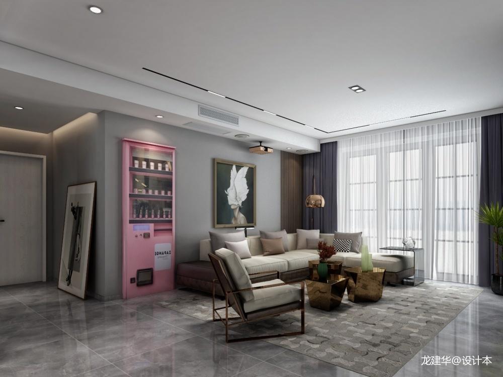 浙江金华海塘府客厅现代简约客厅设计图片赏析