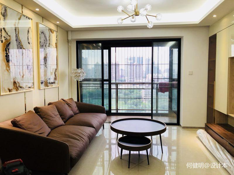 恒荔湾畔小区B2客厅现代简约客厅设计图片赏析