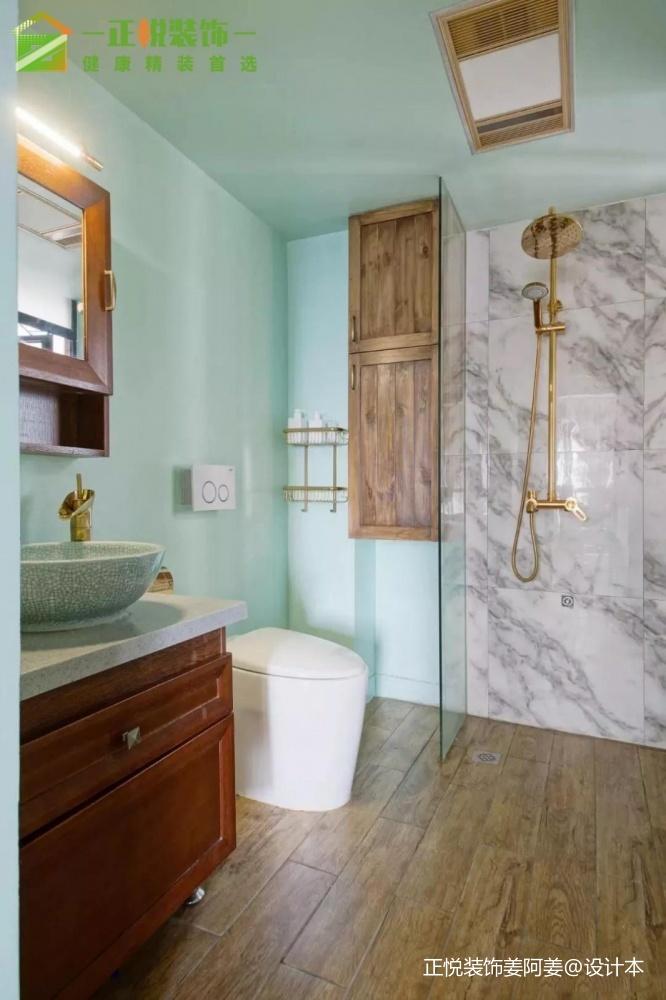 谁说中式风格的沙发必须是木质的?卫生间中式现代卫生间设计图片赏析