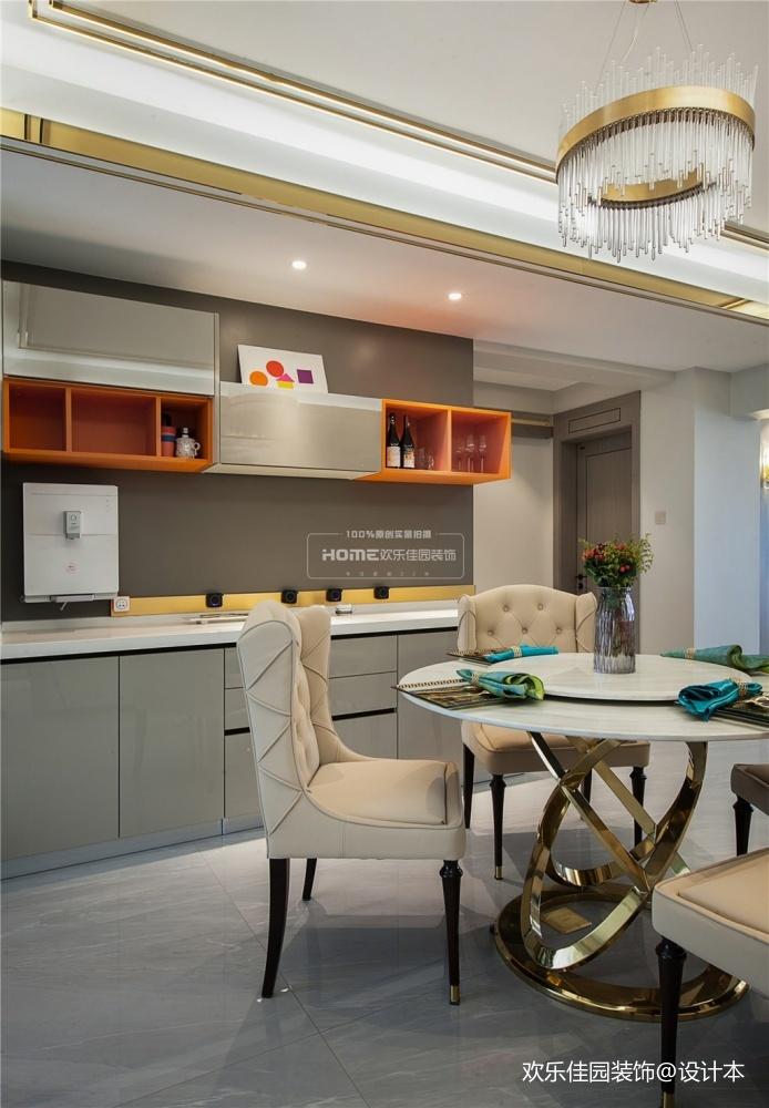 欢乐佳园装饰现代轻奢风格满屋设计感厨房潮流混搭餐厅设计图片赏析