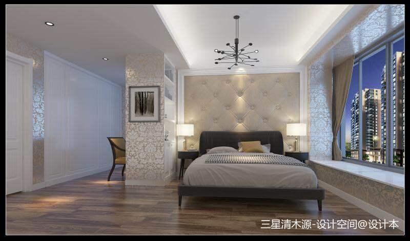 翡俪港现中风格卧室中式现代卧室设计图片赏析