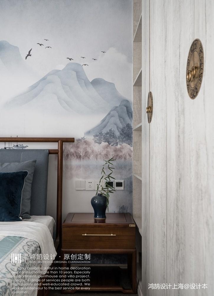 人文情怀镌刻新中式里的古风古韵卧室中式现代卧室设计图片赏析