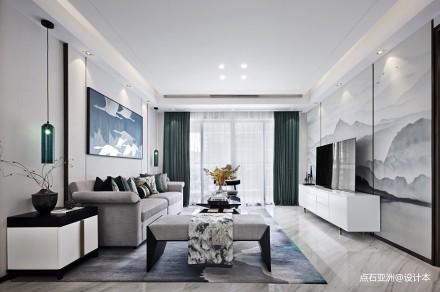 点石亚洲 | 星河山海湾洋房样板间_3877830样板间中式现代家装装修案例效果图