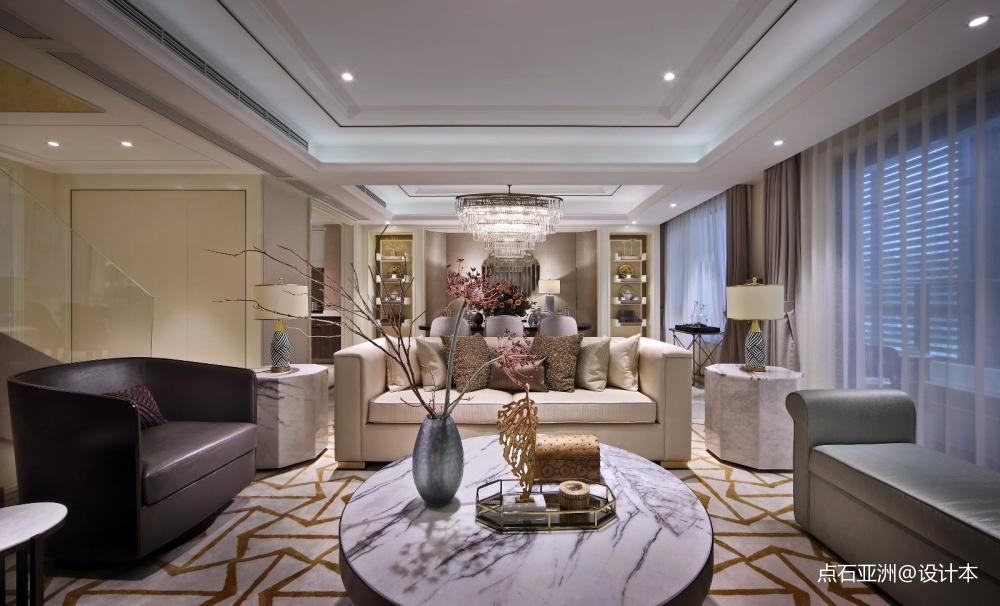 点石亚洲摩登港风经典精致客厅潮流混搭客厅设计图片赏析
