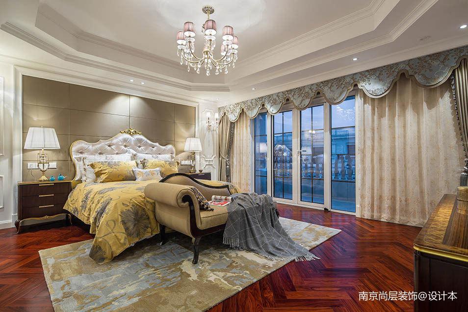 西溪明珠600平美式风格卧室美式田园卧室设计图片赏析