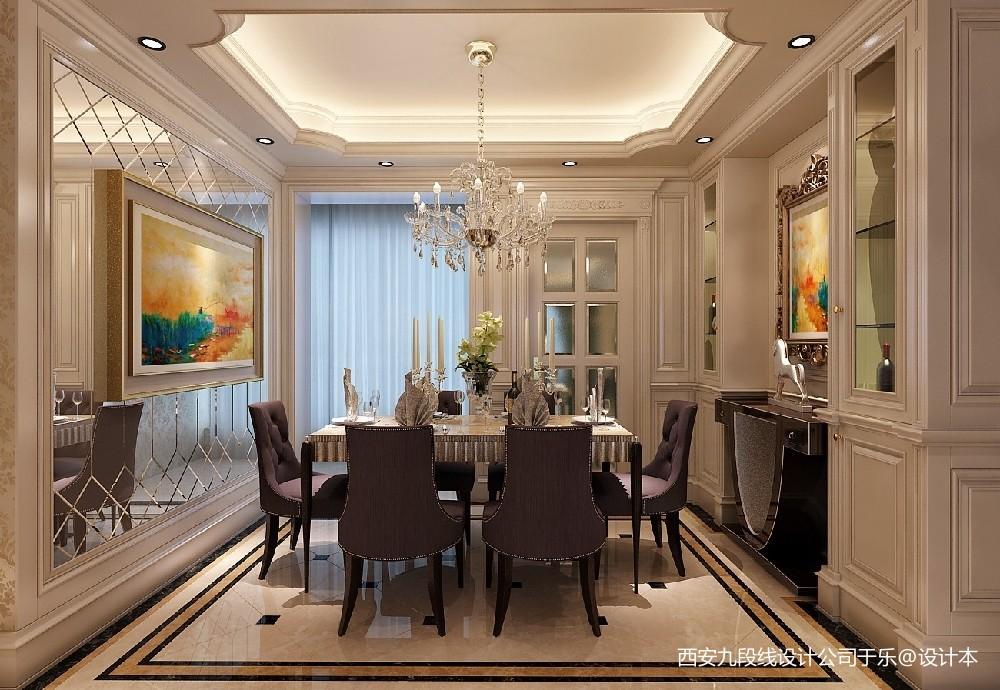 240m²欧式低奢风美的让人窒息的地方厨房美式经典餐厅设计图片赏析