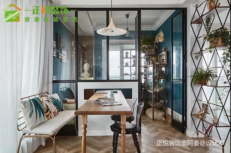 空间充分利用小平方也有大房子既视感!厨房潮流混搭餐厅设计图片赏析