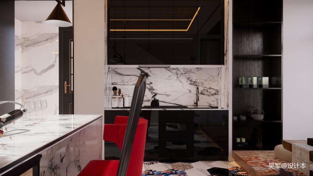 玫瑰庄园顶楼中式现代设计图片赏析