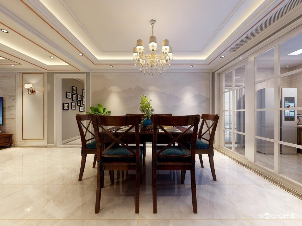 轻奢美式厨房美式经典餐厅设计图片赏析