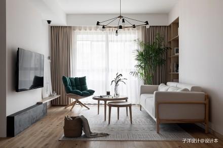 子洋设计丨消失的雨天 日系_3879348三居日式家装装修案例效果图