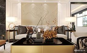 新中式别墅客餐厅空间_3882055