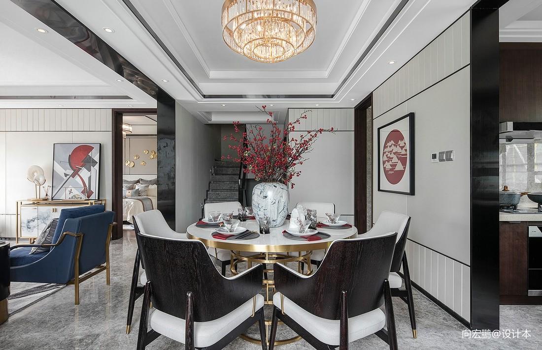 围炉煮茶集古韵今厨房窗帘中式现代餐厅设计图片赏析
