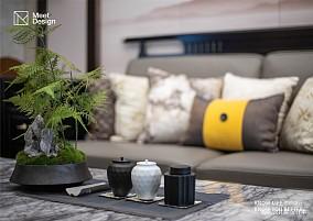 133㎡中式现代家装装修效果图