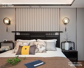 """品""""新中""""风骨,享悠然人生三居中式现代家装装修案例效果图"""