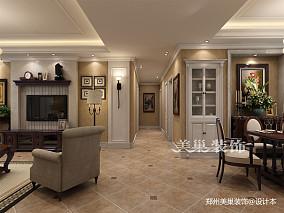 郑州帝华宏府装修117平三室两厅简欧风格_3903388