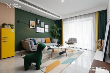 多样色彩=百变性格,我想给你点颜色瞧瞧_3905549二居现代简约家装装修案例效果图