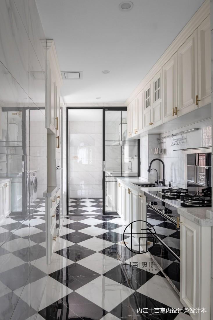 华灯初上不夜居餐厅瓷砖潮流混搭厨房设计图片赏析