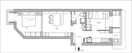 52㎡极致改造,全屋只留8件家具_3909932