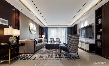 [韵]_3909979三居中式现代家装装修案例效果图
