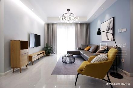 一沐设计 - 原创实景丨「 蔚蓝 * 」_3914965三居现代简约家装装修案例效果图