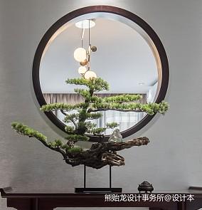 新中式|锦·鲤玄关中式现代设计图片赏析