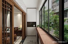60m²海珠穗花新村五宅阳台中式现代设计图片赏析