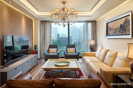 当东方遇上曼哈顿_1593750495_4192163二居中式现代家装装修案例效果图