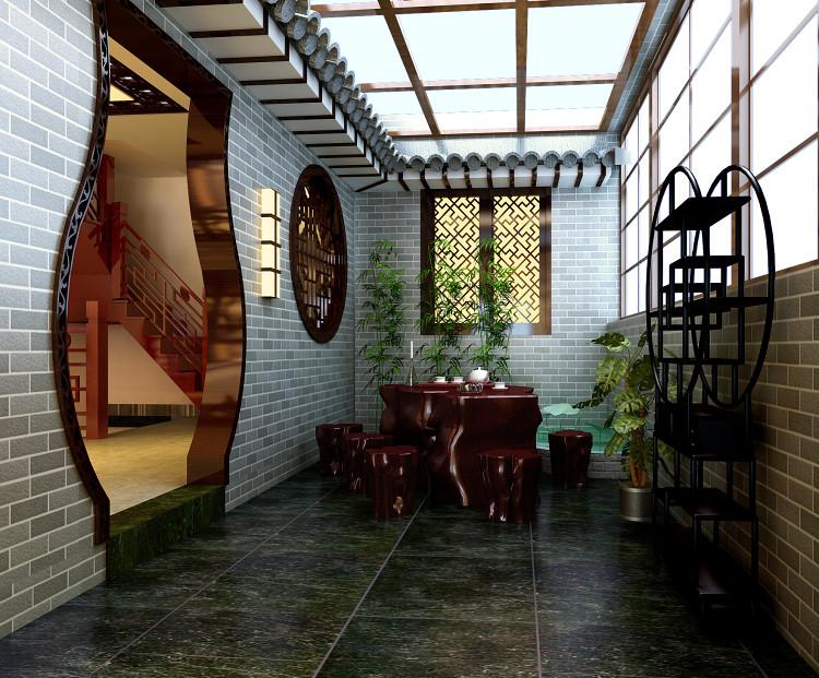 中式传统古典仿古别墅装修