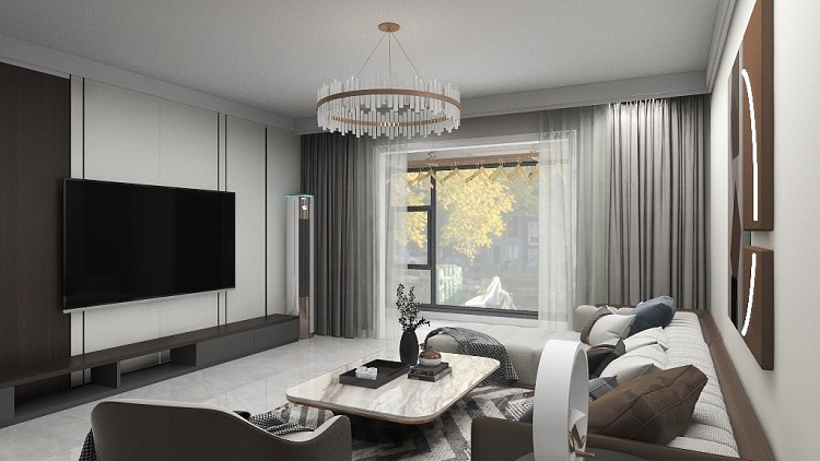 沁水新城100 平房子現代簡約風格