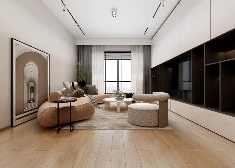 112㎡ 現代簡約原木色地板