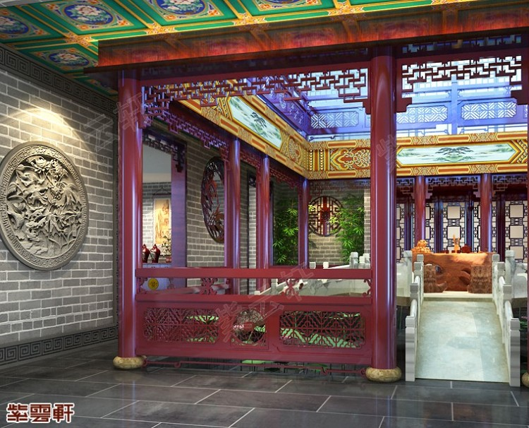 中式传统古典仿古紫云轩