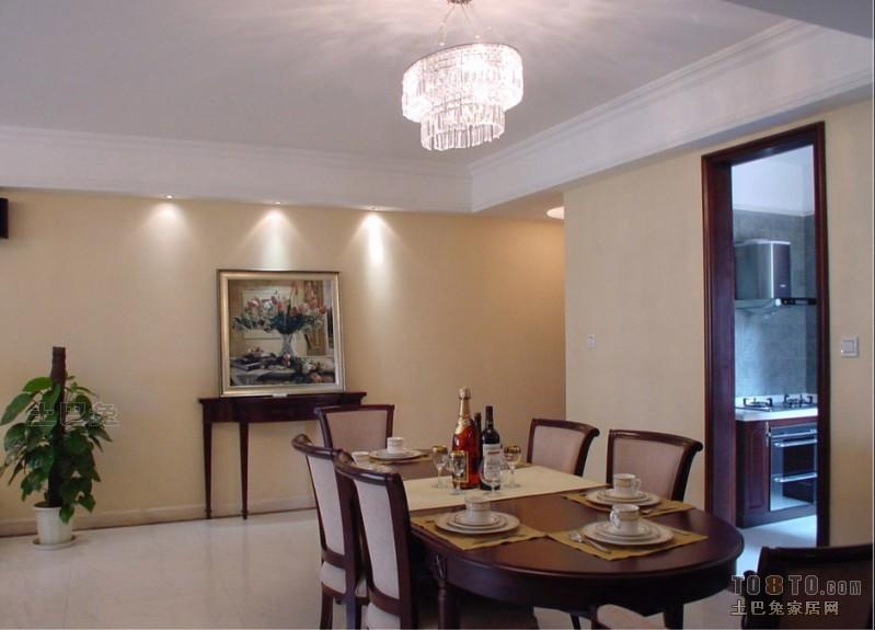 典雅111平混搭三居餐厅装修装饰图厨房潮流混搭餐厅设计图片赏析
