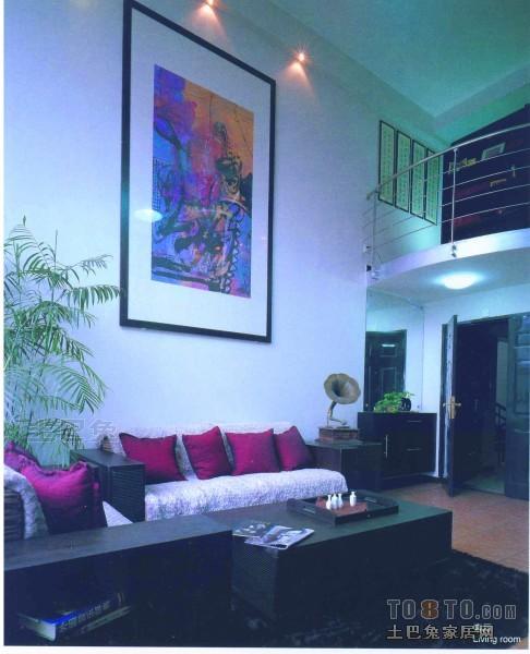 浪漫64平混搭复式客厅装修图片客厅潮流混搭客厅设计图片赏析