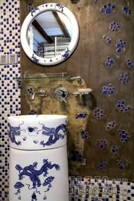 温馨80平混搭复式卫生间效果图卫生间潮流混搭卫生间设计图片赏析