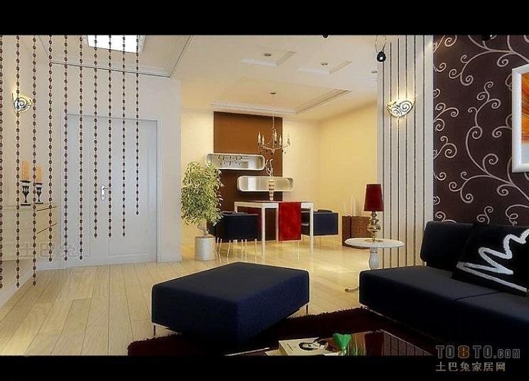 典雅64平混搭二居客厅效果图客厅潮流混搭客厅设计图片赏析
