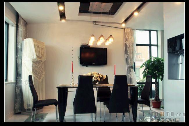 热门面积137平复式餐厅混搭装饰图片厨房潮流混搭餐厅设计图片赏析
