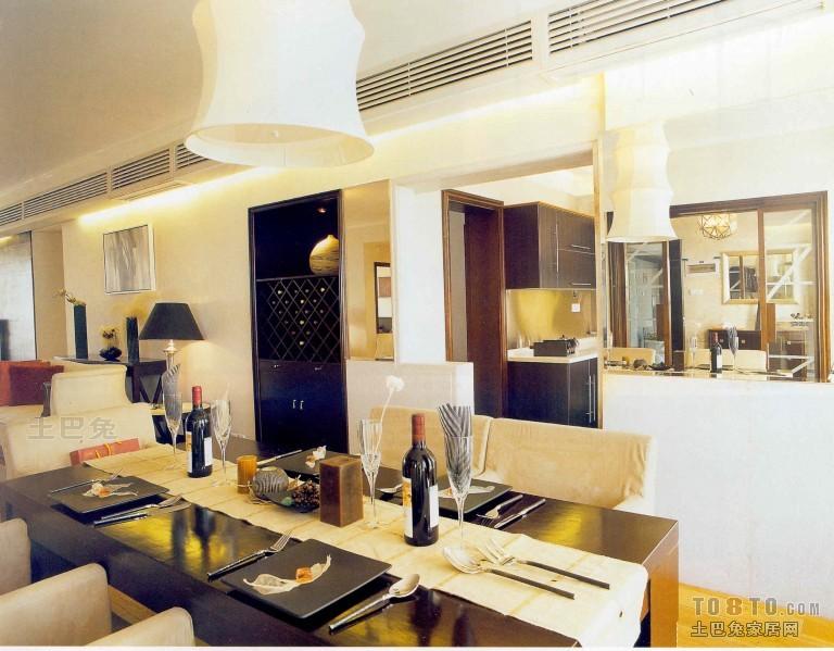 典雅74平混搭三居餐厅装饰图厨房潮流混搭餐厅设计图片赏析
