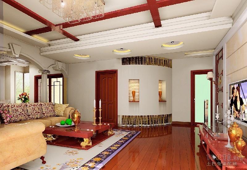 精美混搭3室装饰图片104平客厅潮流混搭客厅设计图片赏析